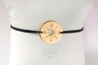 Kompass Freundschaftsband Silber Gold farben sommer armband