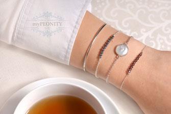 Armband 3 er set Perle Hämatit kristall mypeonity