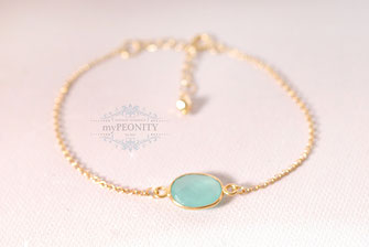 aqua chalzedon armband silber vergoldet