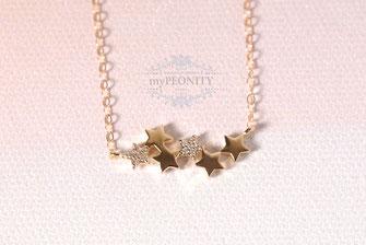 Sternenstaub Sterne mit Zirkonia Kette