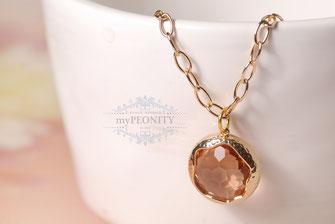 Champagner Glas Anhänger lange Halskette