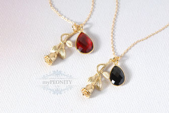 Rose Granat  oder Onyx Tropfen