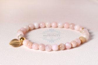 soft vintage pink anden opal armband