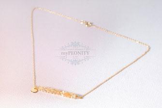 Citrin Reihe Edelstein Halskette