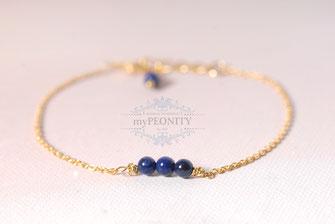 lapislazuli armband vier perlen