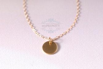 Gold Dot II Taler vergoldet Silber Rosè vergoldet
