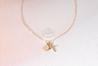 Kreuz vergoldet Edelstein Anhänger Gold filled Kette