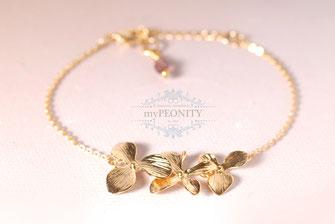 blüten kaskade romantisches armband