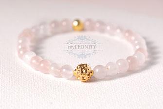 rosenquarz armband vergoldet