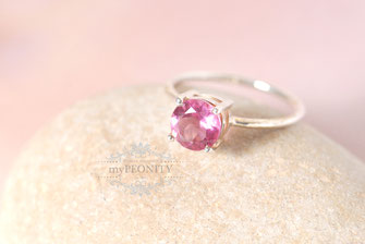 Silber Pink Turmalin Sterlingsilber Ring