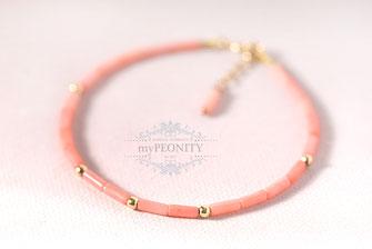 rosa koralle armband silber vergoldet
