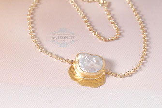 Keshi Perle Collier Anhänger Kette