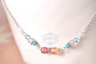 Delicate Flower Halskette 925 Silber