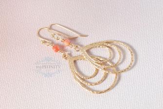 Leichte Ohrringe kleine Korallen Perle sommer schmuck