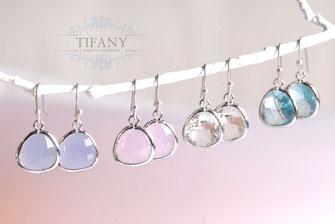 pastell glas ohrringe silber tifany-schmuck