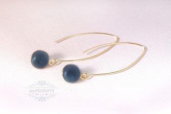 blauer wasser saphir iolite ohrringe
