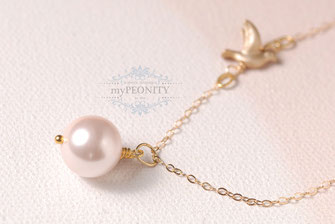 Perlen - Anhänger, Kette Taube dove collection