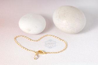 Ankerkettchen Basic Armband Kristall