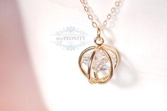 Großer Zirkonia Diamant Anhänger gold filled Halskette