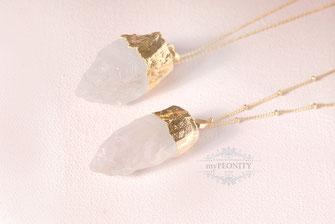 Bergkristall Anhänger Kette Unique Piece