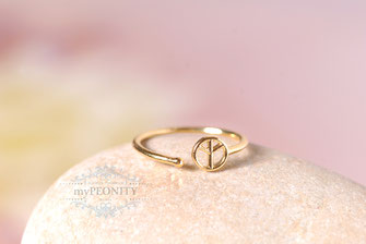 Love Peace Ring gold