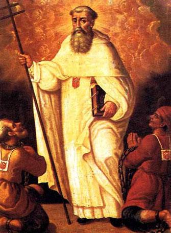 san Pietro Nolasco, fondatore dell'Ordine della Madonna della Mercede