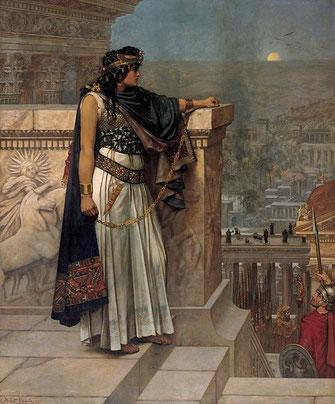 パルミラ市街を見下ろす女王ゼノビア        シュマルツ・ヘルベルト作