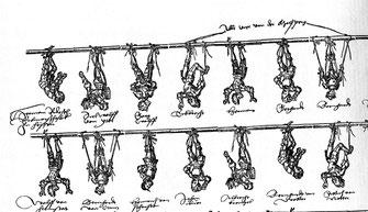 Spottbild auf die hessische Ritterschaft