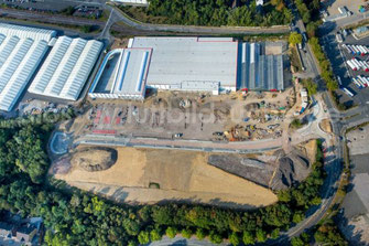 Baustelle Ende 2016  Halbkreisverkehr mit Ampelsteurung (Durchfahrt B235- Opel- Zisack)