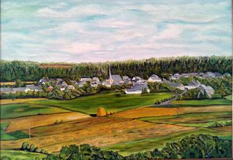 Bruschied, am Fuß des Lützelsoons (gemalt 1998)