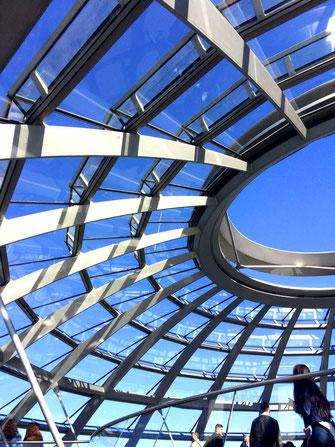 Die Glaskuppel im Bundestag, Berlin