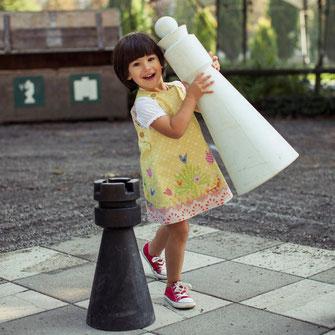 Kinderkleid aus Nähset genäht