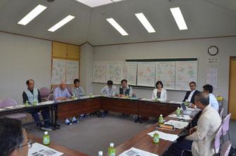 第一回津波記憶石製作会議の様子 2013.7.3撮影