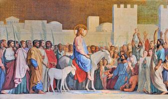 Le Christ entrant dans Jérusalem par Hippolyte Flandrin - 1842.