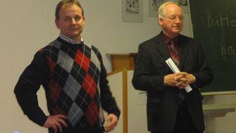 Referent Franz Mayer und Helmut Guckert