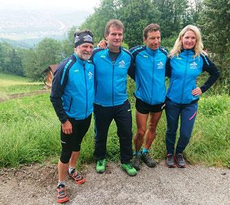 Martin, Andreas, Michael und Iryna