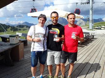 Gesamtsieger Andy Santini, 2. Andreas Sporer GSV Tirol und 3. Franz Prusa Wiener GSC