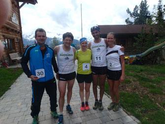Andreas, Martin, Iryna (startet für Wiener GSC), Manuel und Tanja