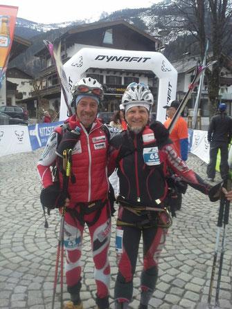 Martin (rechts) mit einem Läuferkollegen, dem Sarner Franz Kröss