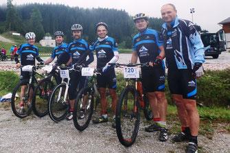 Südtiroler Mannschaft: Martin, Reini, Andy S. Michael, Andy W., Peter