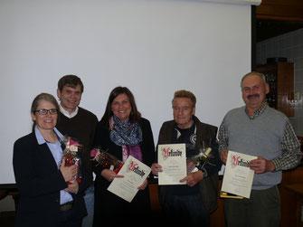 v. li. Ulrike Blumer-Sattler, Michael Muth, Ute Köhler, Werner Rupp, Hermann Maier