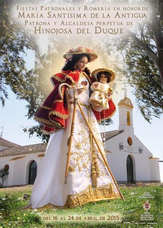 Cartel Fiestas Patronales y Romería 2015 en Hinojosa del Duque