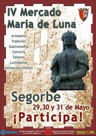 Cartel y programa del Mercado Medieval María de Luna en Segorbe 2015