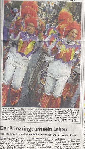 1. Seite International der Dürener Nachrichten vom 20.02.2012