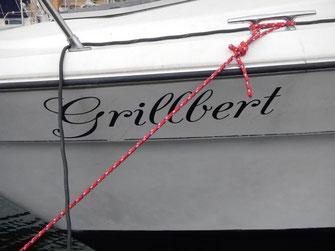 Der Schiffsname zum Grillvergnügen