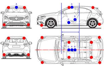 バランスエッグは、車体四隅へも追加することで更にパフォーマンスアップ!