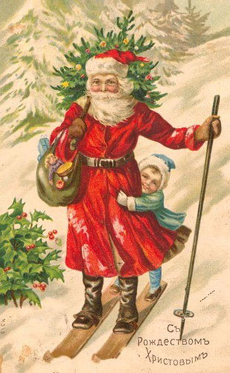 Дед Мороз и Ель
