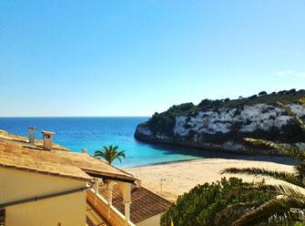 Vista del Mar - Ferienwohnung Dona Maria, Meerblick von Sonnenterrasse