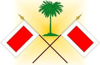 Drapeau dessiné le 16 Juillet 2012  pour les 73 ans de S.A. l' Emir Sultan bin Muhammad AL QASIMI