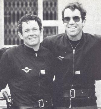 Les capitaines Paul BARRIL et Christian PROUTEAU   ( à dte, Fondateur du GIGN en 1973).